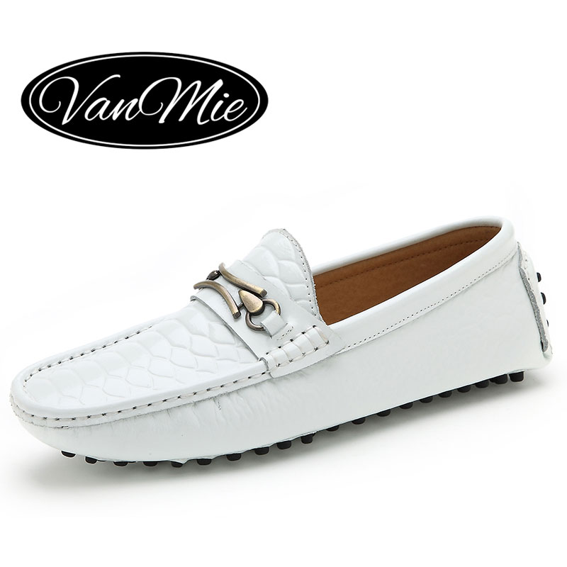 2016 fashion patent leather white mens loafers shoes