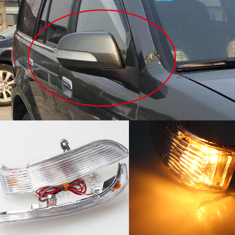 for Great Wall Hover for Haval H5 H3 Left Right rearview mirror shell Mirror turn signal light small lamp shade warning lamp left and right car rearview mirror light for mercedes benz w164 gl350 gl450 gl550 ml300 ml350 turn signal side mirror led lamp
