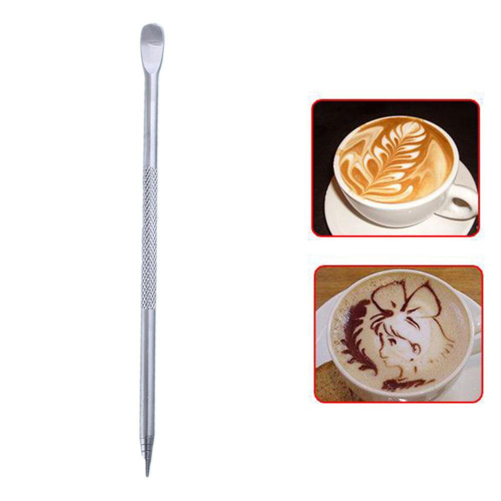 Cafe au lait kitchen decor - 2016 Hot Sale Barista Coffee Cappuccino Latte Decorating Art Pen Household Kitchen Cafe Tool Drop Shipping