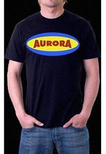 AURORA MODEL COMPANY LOGO MONSTER Black T-Shirt  Harajuku Tops t shirt Fashion Classic Unique