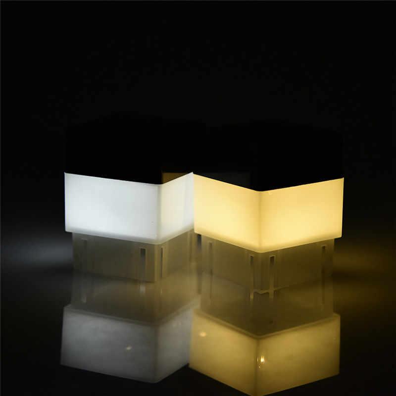 Новые поступления Солнечный свет Открытый Модный квадратный Солнечный настенный светильник садовые огни забор лампа Кемпинг лампа бар настольная лампа