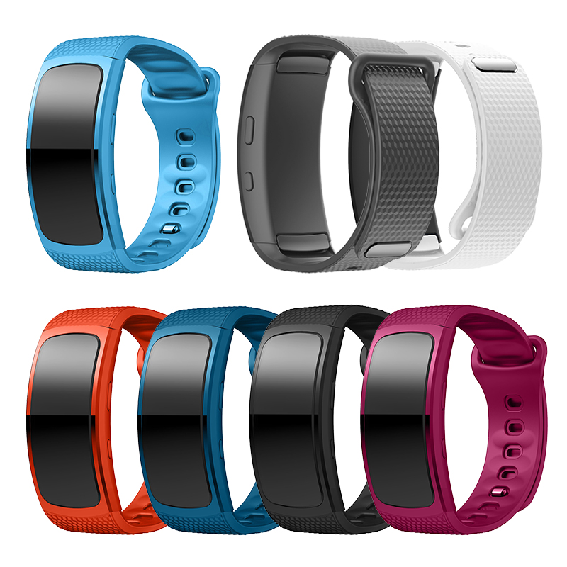 Replacement Bracelet For Samsung Gear Fit 2 Luxury Silicone Strap For Samsung Fit2 SM-R360 Smart Watch Anti-lost Strap 88mm