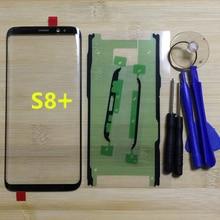 Para Samsung Galaxy S8 Plus G955 G955F G955FD G955V Original Telefone Gorila Touch Screen Frente Outer Painel de Vidro + Ferramentas
