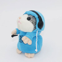 2017 Talking Hamster Mouse Pet Plush Toy Cute Talking Sound Record Hamster Educational Gift Fun Toy