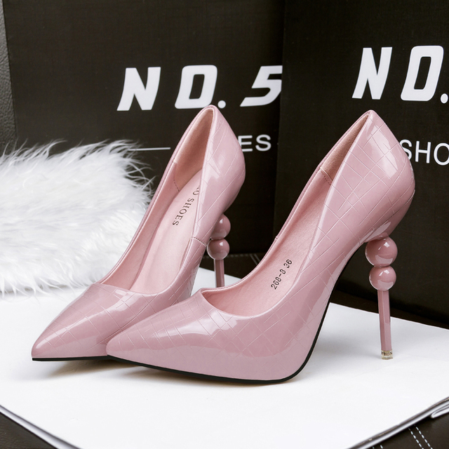2608e44177de4 Free shipping spring women's sexy shallow mouth bright colors high heel  shoes pointed toe strange single shoes