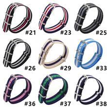 18 20 22  mm  nato fabric Nylon watchband accessories Bands Buckle belt For 007 James bond Watch Strap black