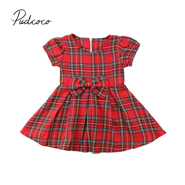25e6a52b592f 2018 Brand New Newborn Infant Baby Girl Cute Princess Dress Bow Red ...