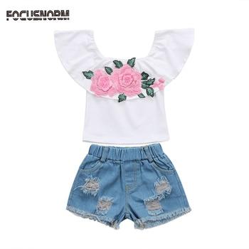 9660857fc 2-6 y ropa de verano para niñas pequeñas conjuntos de chaleco deportivo  Rosa camisetas + ...