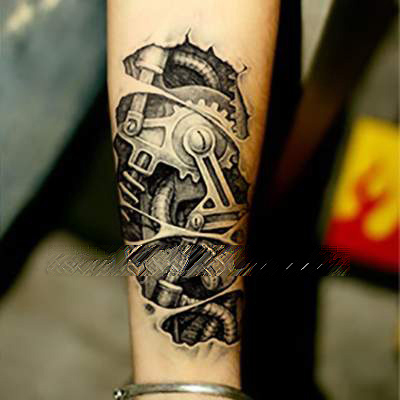 tattoo paste tattoos stickersmonochrome wasserdichte tattoo aufkleber maschinen gruppe. Black Bedroom Furniture Sets. Home Design Ideas