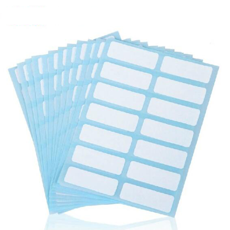 12x14 / Packaging (13 * 38mm) Student Lab Label / Library Category Sticker White Label Writer Sticker Blank Sticker Label