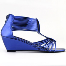 LF30501-2 Sexy Strappy Gladiator Wedge EVE Sandals Shoes