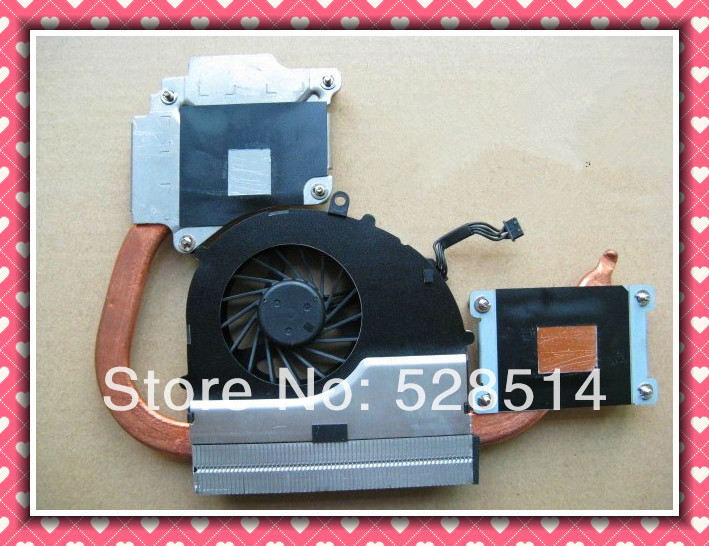 Original cooling heatsink and fan for HP DV4-3000 DV4-3010TX DV4-3011 laptop/notebook CPU radiator 644514-001 free shipping the new thinkpad laptop radiator cooling fan cpu integration t530 fru 04w6905 cooler radiator heatsink
