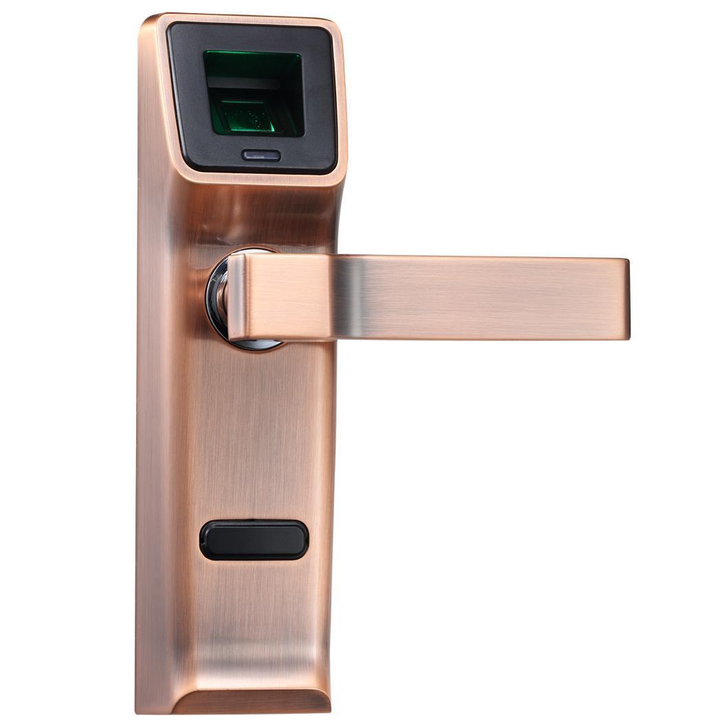 Zinc Alloy Biometric Fingerprint Mechanical Key Digital Keyless Lock Smart Entry Door Lock with Keys electronic smart home door lock fingerprint biometric door lock with mechanical key and fob card key