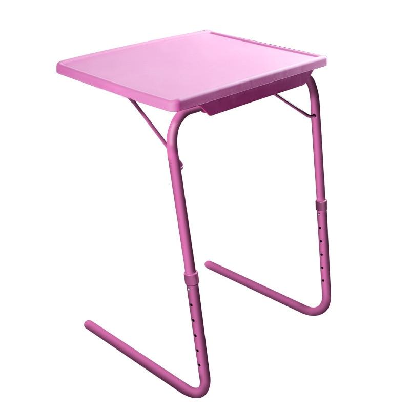 B support d'ordinateur pliable léger Simple Table d'ordinateur en plastique hauteur réglable bureau d'ordinateur portable ordinateur portable PC table d'appoint de bureau
