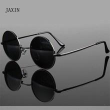 JAXIN Classic Retro Polarized round Sunglasses Men metal fra