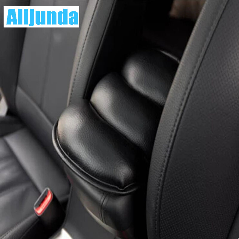 Alijunda General Car Leather Center Console Handrail Box Cover Pad Support Pillow for BMW 1 2 3 4 5 6 7 Series X1 X3 X4 X5 X6