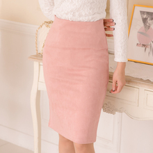 10 colors size S M L XL 2018 Women Winter Solid Suede Multi Package Hip Pencil Midi Skirt Autumn Winter Bodycon Femininas cheap Empire Polyester Cotton AOWOFS Knee-Length None Formal DF-583 j2