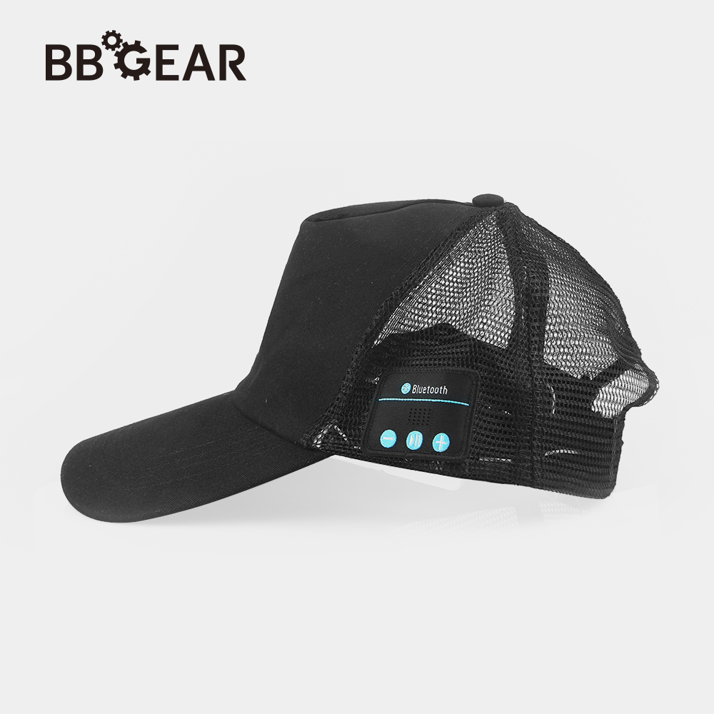 BBGear Wireless Bluetooth Music Headphone Hat Outdoor Sports Baseball Cap Smart Sun Hats w/ Mic Music Headset for iphone 6 7 8 wireless bluetooth music beanie cap stereo headset to answer the call of hat speaker mic knitted cap