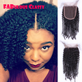 Mongolian Kinky Curly Lace Closure Virgin Afro Kinky Lace Closure Mongolian Kinky Curly Closure Middle Three Side Part Closure