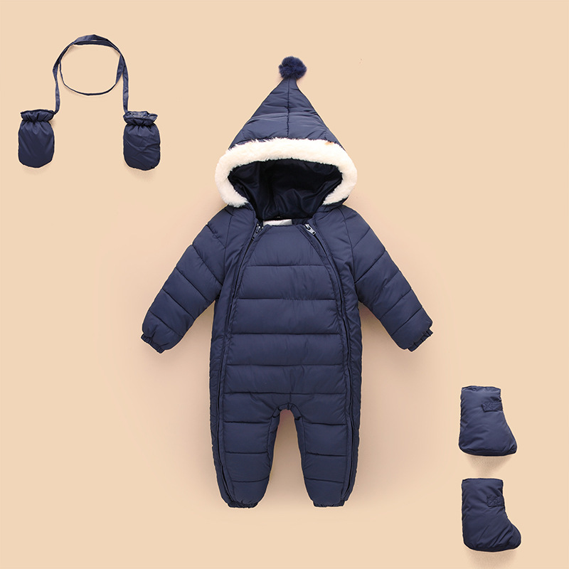 0-24M Baby Coverall Clothing Warm Fall Winter Clothes Newborn Boys Girls Outside Climbing Clothing Baby Rompers Suits C44
