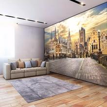3D View Romantic Mural European City for your Unique Wall