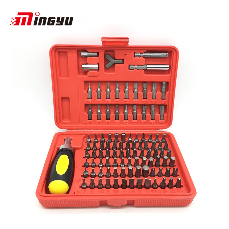 101pcs/set Professional Bits Set Sturdy CR-V Screwdriver Set Torx Star Hex Pozi Phillips Slotted Screwdriver Hand Tool Set цена