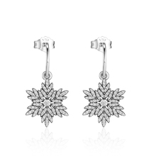 CKK Genuine 925 Sterling Silver Snowflake Wheat Earrings 100% 925 Sterling Silver Stud Earrings modian genuine silver earrings for women 925 sterling silver stud earrings silver 925 with colorful fantastic jewelry