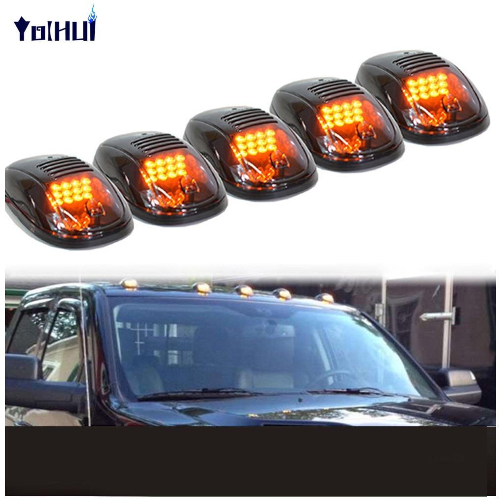 5шт черный копченый объектив Янтарный свет водить такси на крыше маркер бегущие огни для грузовик внедорожник
