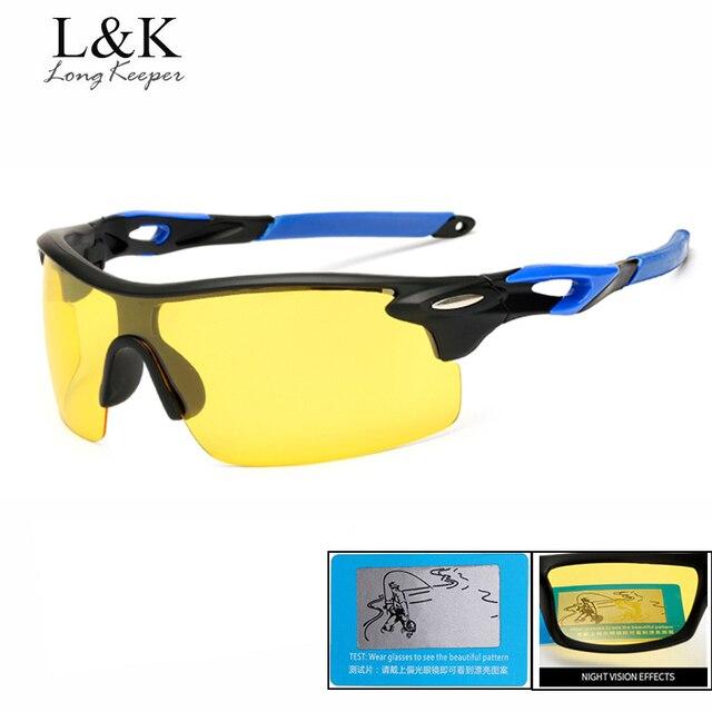Longue Gardien Lunettes de Vision Nocturne Conduite lunettes de Soleil  Polarisées pour Hommes Carré Sans Monture ff537e60efbe