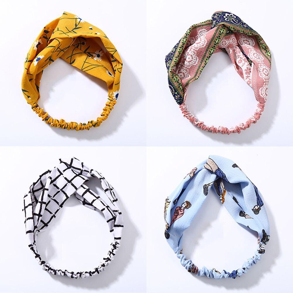 Fashion Plaid Knot Headband Turban Elastic Hairband Head Wrap Hair Accessories For Women Girls Striped   Headwear   Hair Accessories