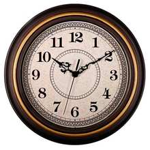 ABKM Hot 12-Inch Silent Non-Ticking Round Wall Clocks, Wall Clocks Decorative Vintage Style,Home Kitchen/Living Room/Bedroom(G