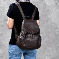 Модные женские натуральная кожа рюкзак mansur леди из натуральной кожи книга рюкзак дорожная школьные сумки для девочек рюкзак мягкий Водонеп