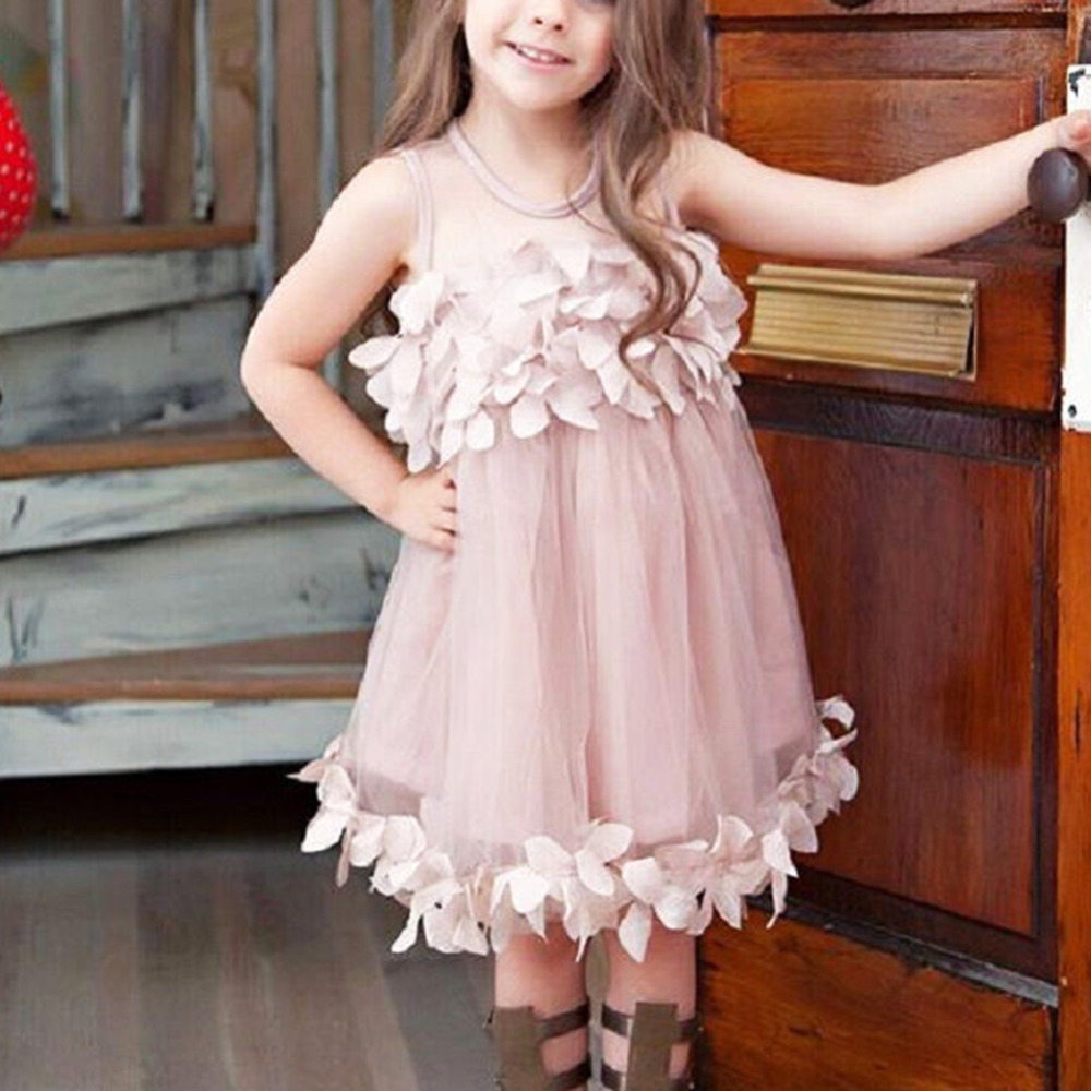 Online buy wholesale bridesmaid dresses size 0 from china 07t cute pink white flower kids baby girl princess bridesmaid petal tulle party formal ombrellifo Gallery