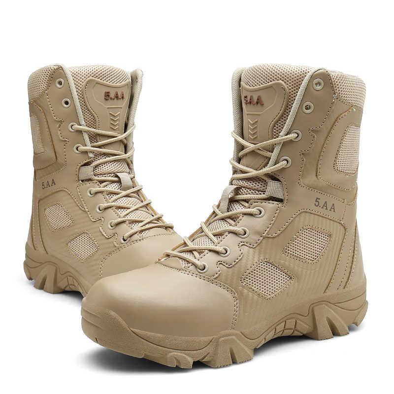 287fed2c8c2 Vancat Big Size 39-47 Desert Tactical Mens Boots Wear-resisting Army Boots  Men Waterproof Outdoor Hiking Men Combat Ankle Boots