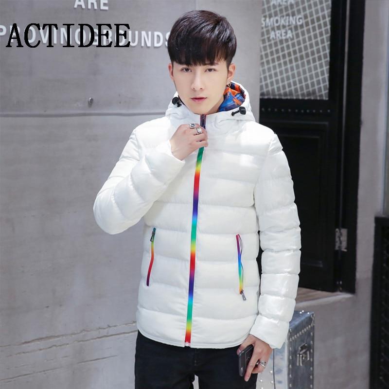 ФОТО ACTIDEE Brand Men Cotton Jacket Coat 3 Colors PLUS size M-3XL 4XL 5XL Winter Jacket Men's Coat Clothes casacos masculino 15OFF