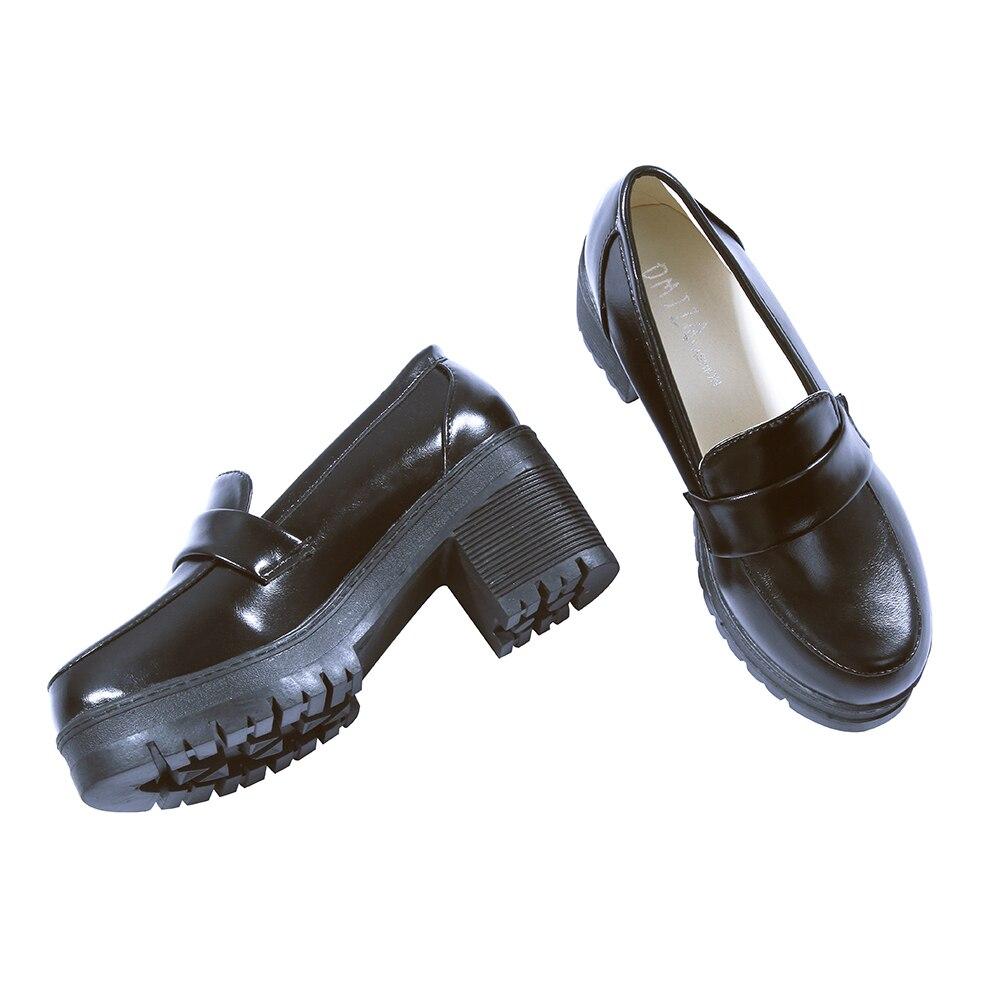 Japanese Anime Black School Shoes 1