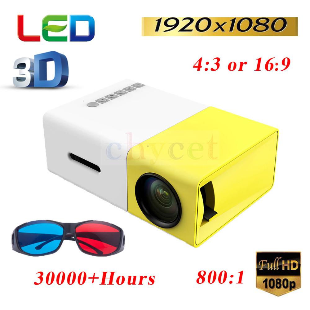 Prix pour Mini Portable YG300 Accueil Projecteur LED 400-600 LM HDMI USB CinemaTheater Beamer Multimédia Proyector Jeu Projecteur De Poche