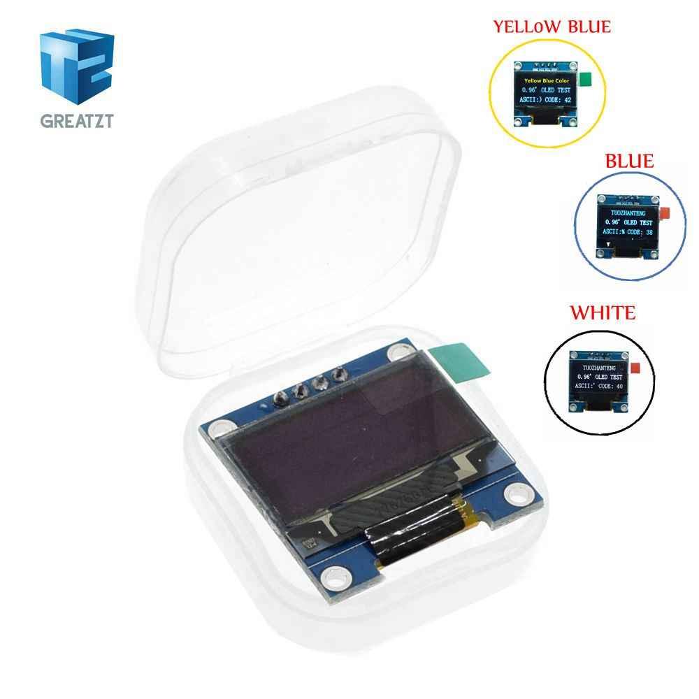 흰색 파란색 0.96 인치 128X64 OLED 디스플레이 모듈 arduino 0.96 IIC SPI 통신 용 노란색 파란색 OLED 디스플레이 모듈