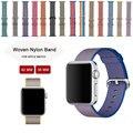 Красочные Ремешок для Apple Watch Band Нейлон Ремешки Ткань Ремешок Замена Браслет Браслет Для Apple Watch 38 ММ 42 ММ