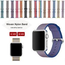 Bracelet coloré pour Apple Watch Bande Nylon Bracelets Bracelet Tissu Remplacement Bracelet Bracelet Pour Apple Watch 38 MM 42 MM