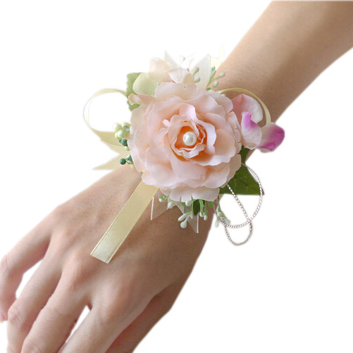5b614dc94c74 4 unids lote muñeca pulsera rosas ramillete de muñeca para Prom ...