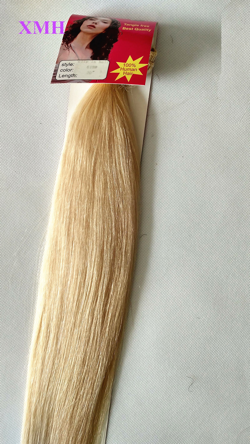 BLONDE CLIP IN HAIR EXTENSIONS REMY HAIR