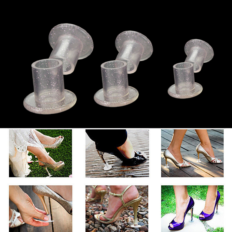 90Pairs/Lot Heel Protectors High Heeler Antislip silvery Heel Stopper Latin Stiletto Dancing Cover For Bridal Wedding shoes pink 4 type classic latin dance shoes heel protectors high pumps heel tips cover protector tacon de tacones de plastico 20pairs lot