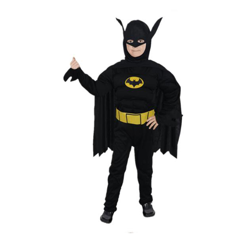 2018 New Arrival Kids Deluxe Muscle Dark Knight Batman Costumes Boys Bat man Superhero Cosplay Costume for Halloween Party Dress-in Boys Costumes from ...  sc 1 st  AliExpress.com & 2018 New Arrival Kids Deluxe Muscle Dark Knight Batman Costumes Boys ...