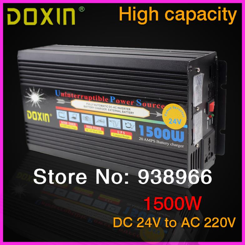 UPS 1500W DC 24V to AC 220V Car  Inverter Car Power Inverter Inversor Adapter Adaptor Universal Hot Selling