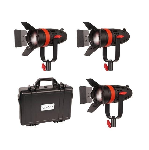 3 pièces CAME TV Boltzen 55w Fresnel focalisable LED lumière du jour Kit F 55W 3KIT Led lumière vidéo