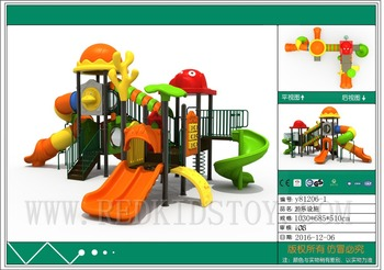 équipement De Jeu En Plein Air | Gros équipement De Jeu De Parc Standard De L'ue Grande Glissière De Jeu Pour L'école Y81206