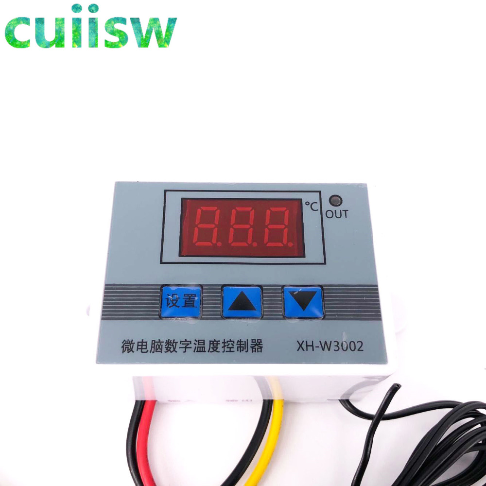 XH-W3002 12V-220V цифровой светодиодный Температура Управление; 10A термостат Управление переключатель датчика с водонепроницаемым датчиком W3002