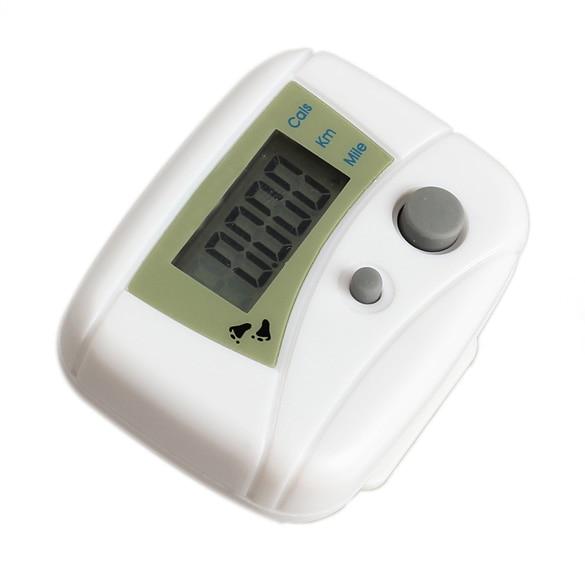 White Pedometers LCD Run Step Pedometer Walking Distance Calorie Counter Passometer  B2C Shop