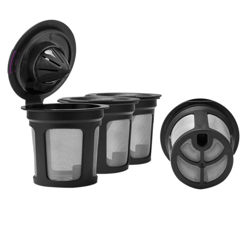 4Pcs/set  Cup Coffee System Reusable Coffee Filter Cup Kitchen Suppli Coffee Pod Filters Compatible With Keurig